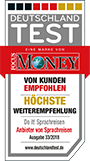 Guetesiegel Testsieger Focus Money Do it Sprachreisen